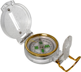 3 in 1 Military Hiking Camping Lens Lensatic Magnetic Compass - 31A