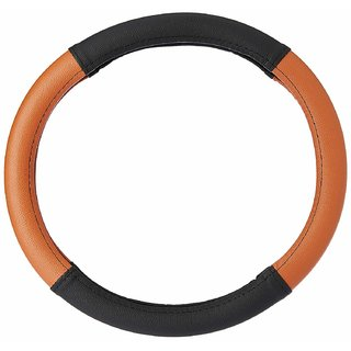 Cranzo Car Steering Wheel Cover Leather For Hyundai i10 Grand