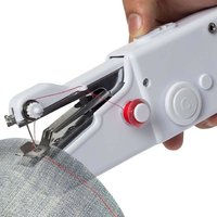 Nucleya Retail Cordless Electric Mini Sewing Machine Handheld Handy Stitch Sewing Machine (Without Charger And Battery)