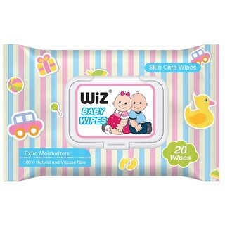 Wiz Soft Refreshing Baby Wipes - 20 Pulls (Pack of 2)