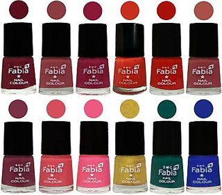 Fabia Matte Nail Polish Pack of 12 Multicolor 6 ml Wedding Collection 16