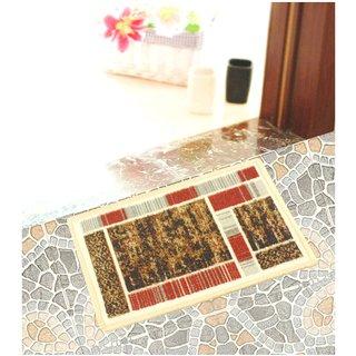 Neska Moda Anti Slip And Anti Skid Multicolor Microfiber Rectangle Shape Floor/Door Mat FM22
