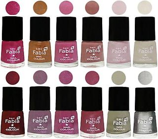 Fabia Matte Nail Polish Pack of 12 Multicolor 6 ml Wedding Collection 59