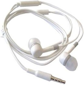 Super Bass Quality Wired Earphones with Mic for all Mobile (White Color)