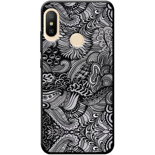 Cellmate Doodle Art Retro Pattern Designer Soft Silicone Mobile Back Case Cover For Redmi A2 Lite - Black