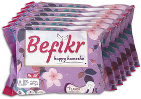 Befikr Sanitary Pads with Japanese Technology  XXL size 48 Sanitary Pads Pack of 6