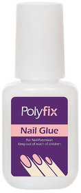 Polyfix Nail Glue For Acrylic nail Extension With Brush on Applicator