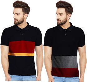 Leotude Men's Cotton T-shirt Pack Of 2