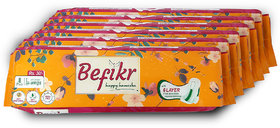 Befikr Sanitary Pads with Japanese Technology  L size 48 Sanitary Pads Pack of 6