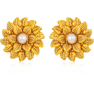 Sukkhi Marquise Leafy Gold Plated Earring for Women