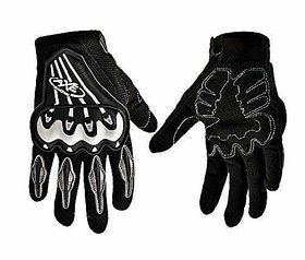 Shaurya Creations Men's Axe Bike Gloves for All Bikers (Black, XL)