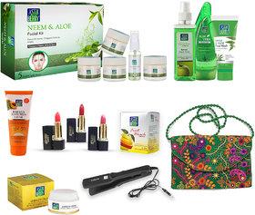 Astaberry Neem  Aloe Anti Acne - Skin Care Gift Set (Facial Toner, Aleo Vera Gel, Sunscreen SPF 30)