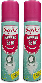 Befikr Happee seat On the go toilet seat sanitizer spray Lemon Pack of 2