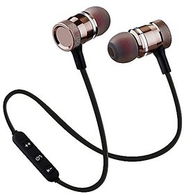 Btr17 Sports Bluetooth Magnet Headset with Mic by Mobicovers for All Android  All Smartphones