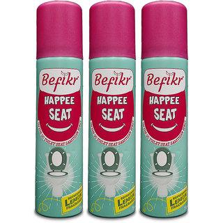 Befikr Happee seat On the go toilet seat sanitizer spray Lemon Pack of 3