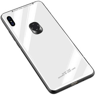 OGW BACK  CASE COVER FOR  REDMI NOTE 7 S  THOUGHEND GLASS COVER WHITE