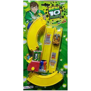 Ben10 Aline Force Car Set Racing With Track Plastic Toy For KidZ