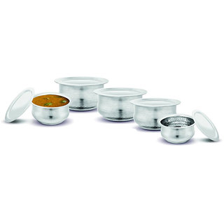 Kloud 9 Hammered Induction Bottom Myra Tope Set with Lid - Pack of 5 pcs