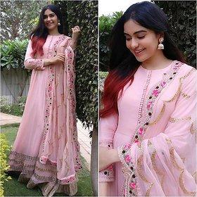 salwar soul Adah Sharma New Designer Light Pink Color Suit