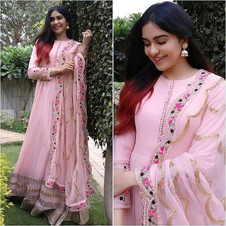 salwar soul Adah Sharma New Designer Light Pink Color Suit