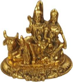 METALCRAFTS Shiv Parivar, Shiva's complete family with Parvati, Ganesh, Kartikeya, Nandi. Suitable for worship