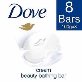 Dove Daily Care Cream Beauty Bathing Bar, 100g (Pack of 8)