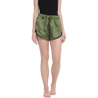 oxolloxo Women's Polyester Solid Night Wear Shorts