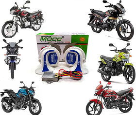 SHOP4U Mocc Horn for  All Bikes & Scooties ( 18 in 1 Digital Tone Magic Horn Set of 2 )