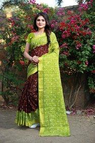 Svb SareeMUlticolour Bandhni print saree With Blouse