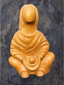 Lady/Women Sitted Wooden Statue/Sculpture