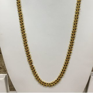 Digital Dress Women's Jewellery Gold Plated Mangalsutra Necklace 26-inch Length Chain Traditional Black  Gold Beads Single Line Layer Long Mangalsutra For Women and Girls