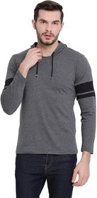 Vimal Jonney Dark Grey Full Sleeve Hoodie Tshirt For Men