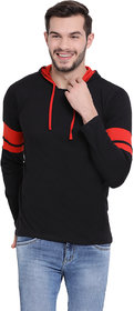Vimal Jonney Black Full Sleeve Hoodie Tshirt For Men