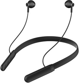 Bspower Rugged Leather Bluetooth Neckband V 5.0 ((20 Hrs Music Time)) Sweat Proof Ultra-Light Weight EZ504