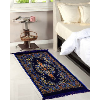 XtroMac Om Handicrafts Blue Abstract Multipurpose Jute Floor Runner- (Set of 2) (122 x 76 CM)