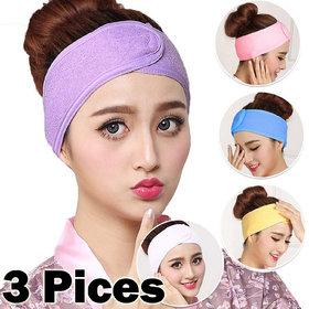 3 Pieces Facial Hair Head Band for Facial Salon - 01