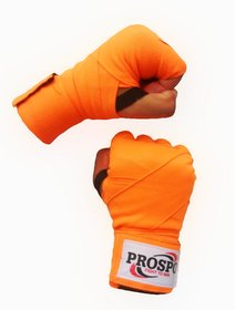 PROSPO Florescent  Orange Boxing Mexican Stretch / Handwraps/ Spandex Bands/ Hand Bandage/ Protectors (180 Inches - Pack