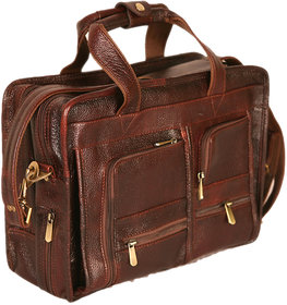 PE 100 GENUINE Soft Fine Milled Leather Office Messenger Small Size Laptop Bag BR17