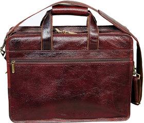 PE GENUINE INDIAN Leather new Office File Bag Messenger Laptop Bag BR61