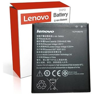 ORIGINAL BL242 BATTERY FOR LENOVO A6000 AND 6000 PLUS WITH 2300mAh Case   Cover