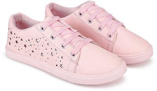 Bersache Women Canvas Light Pink-1253 Casual Sneaker Shoes