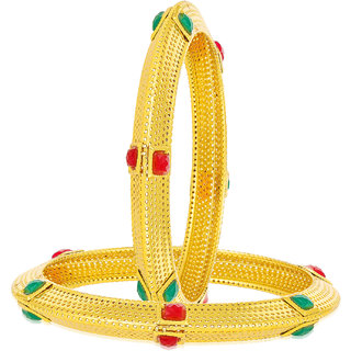 Sukkhi Glimmery 24 Carat 1 Gram Gold Plated Bangle Set For Women