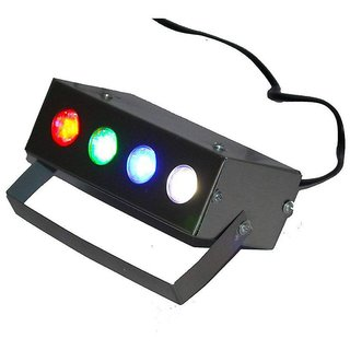 Multicolor Electric 4 LED RBGW Laser Projector Light For Party  DJ by RV MARKETING