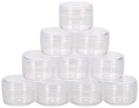 DIY Crafts Portable Cosmetic Empty Acrylic Jar Containers (Pack of 50) (3 x 3 x 1.7 cm)