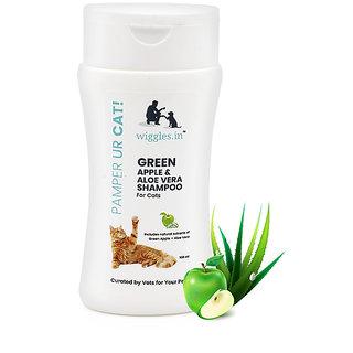 Wiggles Green Apple  Aloe Vera Shampoo for Cats (100 ml)