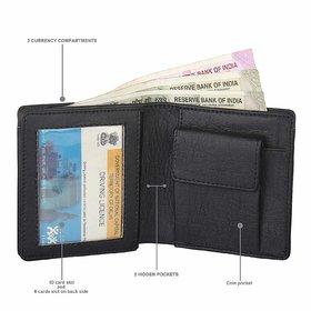 Moody Max - Men's Artificial Leather Short Wallet (Black)