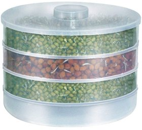 KREATIVE INDIA Sprout Maker  Plastic Sprout maker box  Hygienic Sprout Maker With 4 Container  Organic Home Making Fr