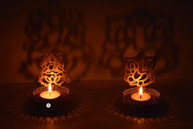 Gold Brass Laxmi Ganesh Shadow Diyas For Diwali or Home Diwali Decoration