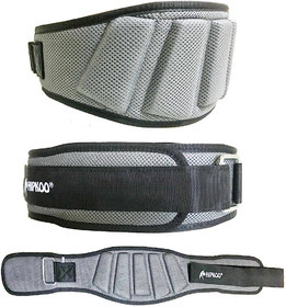 Hipkoo Extreme Grid Design Gym Belt (6 Inch Wide, 10mm Thickness) Adjustable - 30 to 36 inch(M)