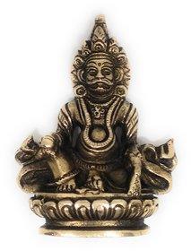 Ashtadhatu Kuberji Gold Plated Murti (Medium)